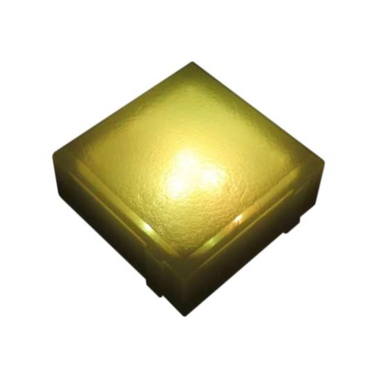 Светодиодная брусчатка LED LUMBRUS 100x100x40 мм. жёлтая IP68 — Купить в интернет-магазине LED Forms
