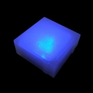 Плитка тротуарная светящаяся (светодиодная брусчатка) LED Brick, 100*100*40 мм., IP67, цвет синий