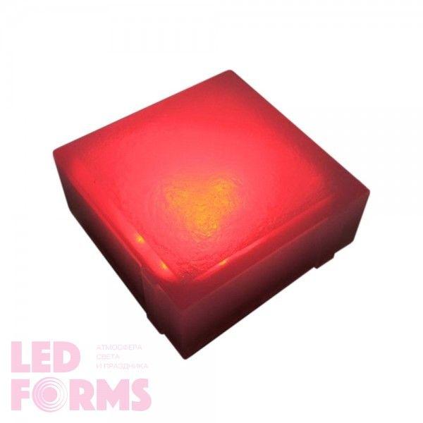 Плитка тротуарная светящаяся (светодиодная брусчатка) LED Brick, 100*100*40 мм., IP67, цвет красный
