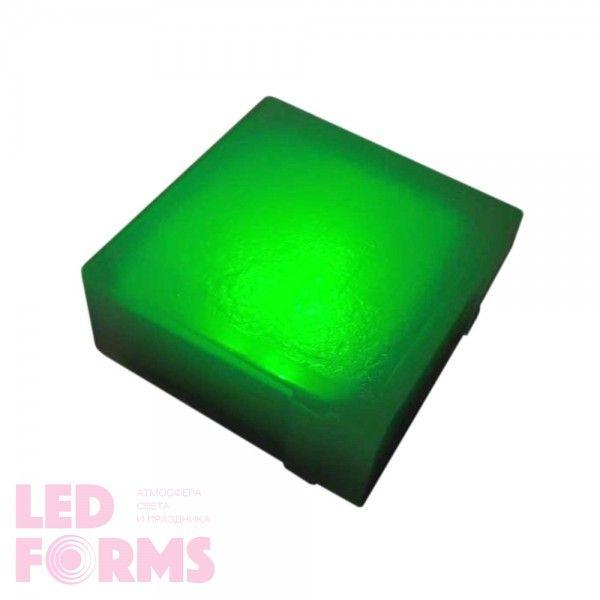 Плитка тротуарная светящаяся (светодиодная брусчатка) LED Brick, 100*100*40 мм., IP67, цвет зелёный