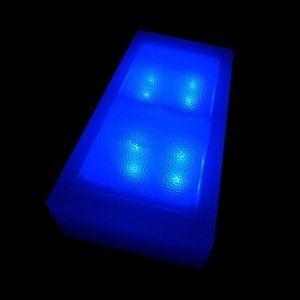 Плитка тротуарная светящаяся (светодиодная брусчатка) LED Brick, 100*200*40 мм., IP67, цвет синий