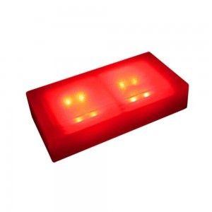 Светодиодная брусчатка LED Lumbrus, 100*200*40 мм., светильник для тротуарной плитки, красный, 12V, IP68