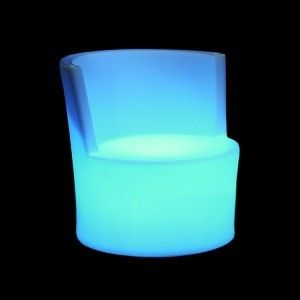 Стул светящийся (светомебель) LED Almelo, светодиодный, разноцветный (RGB), пылевлагозащита IP65