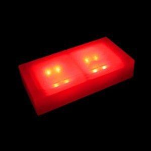 Светодиодная брусчатка LED LUMBRUS 100x200x40 мм. красная IP68 — Купить в интернет-магазине LED Forms