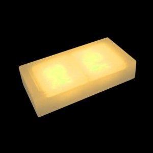 Плитка тротуарная светящаяся (светодиодная брусчатка) LED Brick, 100*200*40 мм., IP67, цвет жёлтый
