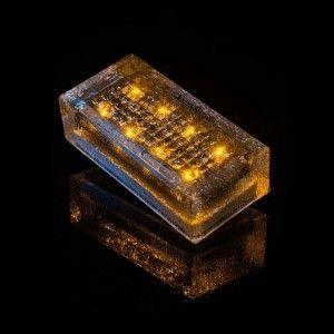 Плитка тротуарная светящаяся на солнечных батареях LED Brick Solar, 200*100*60 мм., IP67, цвет жёлтый