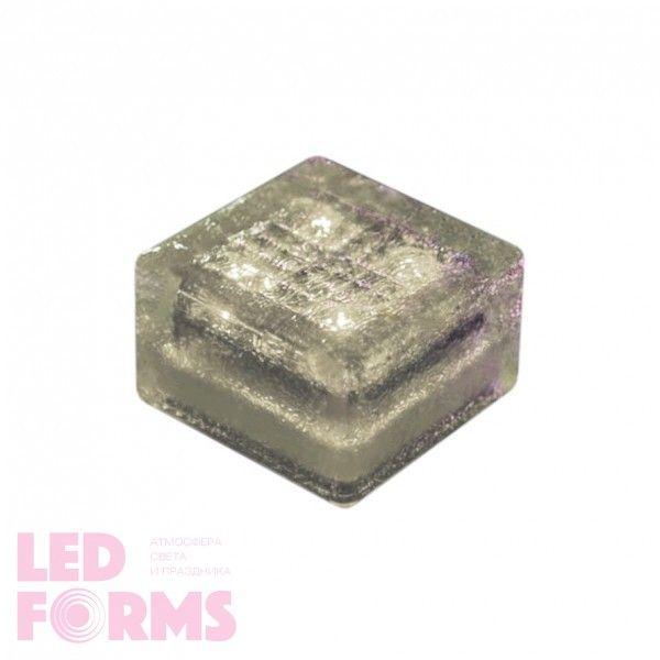 Плитка тротуарная светящаяся на солнечных батареях LED Brick Solar, 100*100*60 мм., IP67, цвет белый