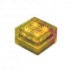 """Cветильник для тротуарной плитки """"Светодиодная брусчатка"""" LED Forms, 100*100*60 мм., IP68, жёлтый, на солнечных батареях"""