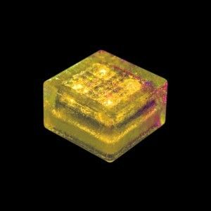 Плитка тротуарная светящаяся на солнечных батареях LED Brick Solar, 100*100*60 мм., IP67, цвет жёлтый