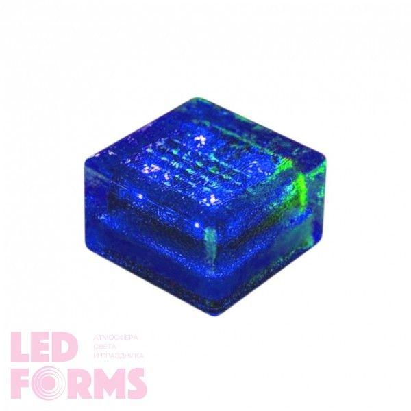 Плитка тротуарная светящаяся на солнечных батареях LED Brick Solar, 100*100*60 мм., IP67, цвет синий