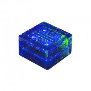 """Cветильник для тротуарной плитки """"Светодиодная брусчатка"""" LED Forms, 100*100*60 мм., IP68, синий, на солнечных батареях"""