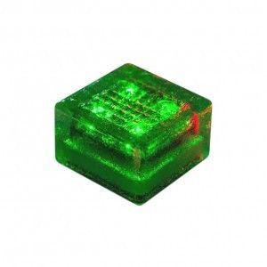 """Cветильник для тротуарной плитки """"Светодиодная брусчатка"""" LED Forms, 100*100*60 мм., IP68, зелёный, на солнечных батареях"""