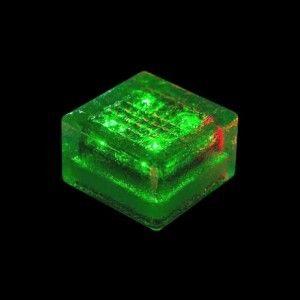 Плитка тротуарная светящаяся на солнечных батареях LED Brick Solar, 100*100*60 мм., IP67, цвет зелёный