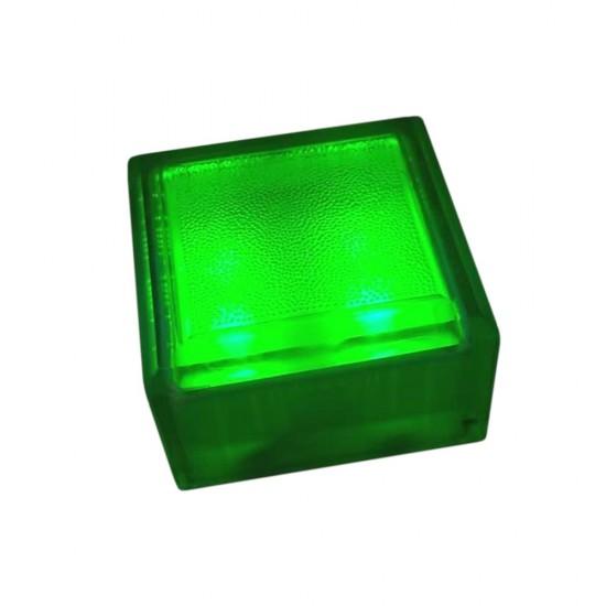 Плитка тротуарная светящаяся (светодиодная брусчатка) LED Brick, 100*100*60 мм., IP67, цвет зелёный