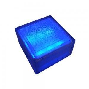Плитка тротуарная светящаяся (светодиодная брусчатка) LED Brick, 100*100*60 мм., IP67, цвет синий