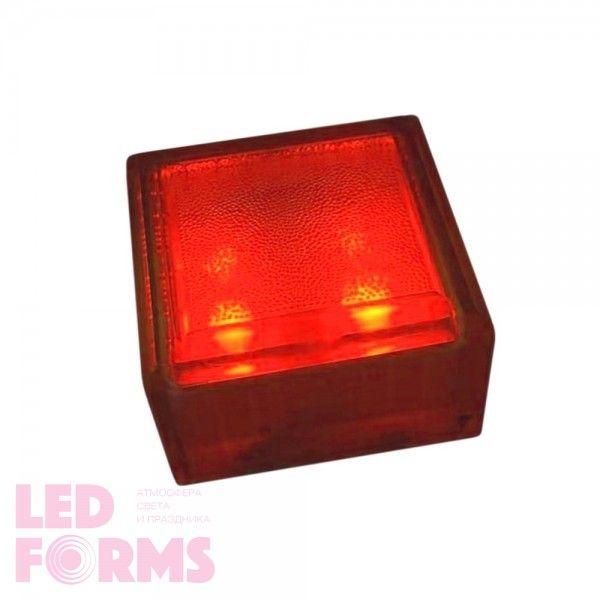 Плитка тротуарная светящаяся (светодиодная брусчатка) LED Brick, 100*100*60 мм., IP67, цвет красный
