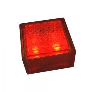 """Cветильник для тротуарной плитки """"Светодиодная брусчатка"""" LED Forms, 100*100*60 мм., IP68, красный, 12V"""