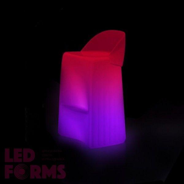 Стул барный светящийся (светомебель) LED Waves, светодиодный, разноцветный (RGB), пылевлагозащита IP65