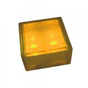 """Cветильник для тротуарной плитки """"Светодиодная брусчатка"""" LED Forms, 100*100*60 мм., IP68, жёлтый, 12V"""