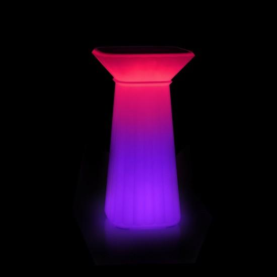 Барный стол светящийся LED WAVES c разноцветной RGB подсветкой и пультом ДУ IP65 — Купить в интернет-магазине LED Forms