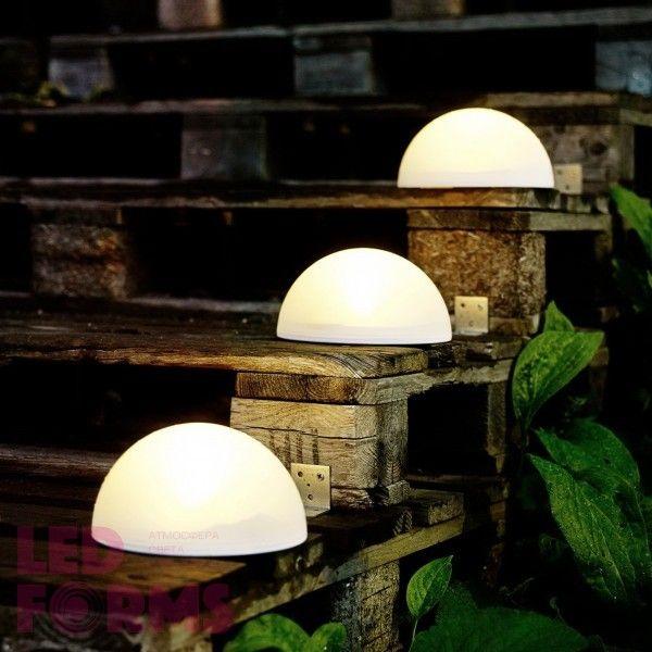 Полусфера светящаяся LED, диам. 30 см., цвет тёплый или холодный белый, пылевлагозащита IP65, 220V