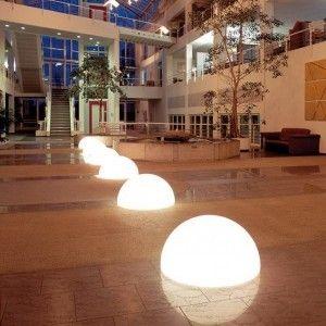 Полусфера светящаяся LED, 60*30 см., цвет белый, IP65, 220V