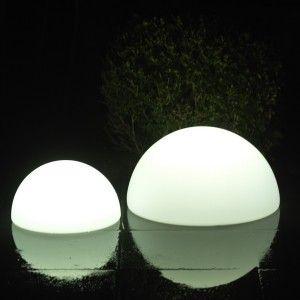 Полусфера светящаяся LED, 50*25 см., цвет белый, IP65, 220V