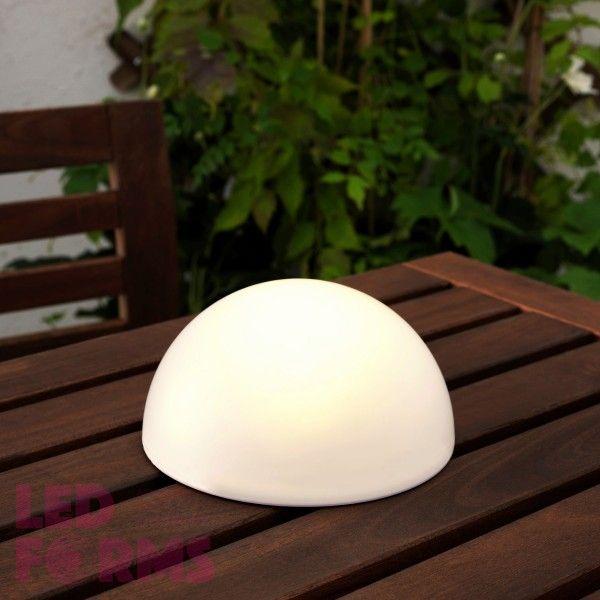 Полусфера светящаяся LED, 30*15 см., цвет белый, IP65, 220V
