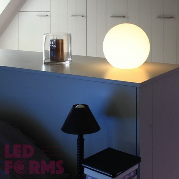 Шар светящийся LED, диам. 20 см., цвет белый, пылевлагозащита IP65, 220V