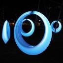 Качели светящиеся Кольцо LED RING XL разноцветные RGB с аккумулятором и пультом ДУ IP65 — Купить в интернет-магазине LED Forms