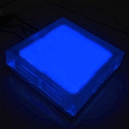 Светодиодная тротуарная плитка LED LUMBRUS 200x200x40 мм. синяя IP68 — Купить в интернет-магазине LED Forms