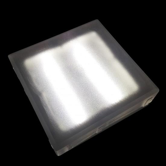 Светодиодная тротуарная плитка LED LUMBRUS 200x200x40 мм. белая IP68 — Купить в интернет-магазине LED Forms