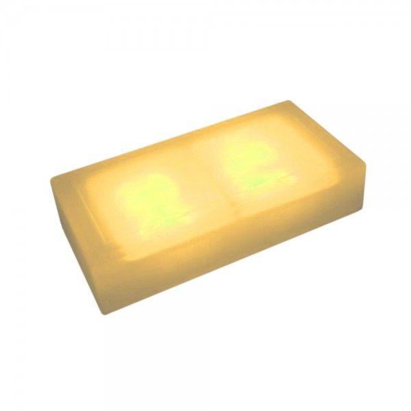 Плитка тротуарная светящаяся (светодиодная брусчатка) LED Brick, 100*200*60 мм., IP67, цвет жёлтый
