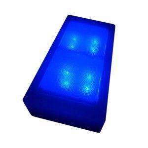 Светодиодная брусчатка LED Lumbrus, 100*200*60 мм., светильник для тротуарной плитки, синий, 12V, IP68