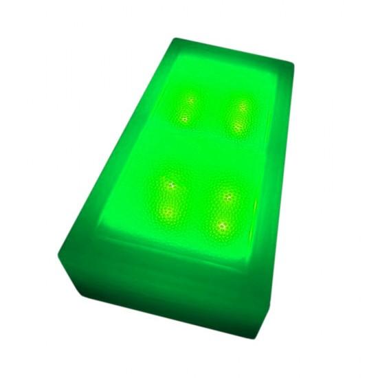 Плитка тротуарная светящаяся (светодиодная брусчатка) LED Brick, 100*200*60 мм., IP67, цвет зелёный