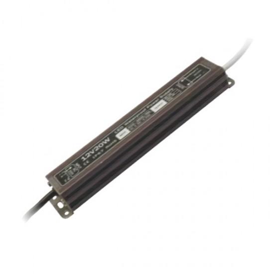 Блок питания для тротуарных светильников (LED брусчатки), 12V, IP67, 20 Вт.