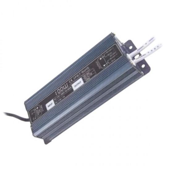 Блок питания для тротуарных светильников (LED брусчатки), 12V, IP67, 100 Вт.