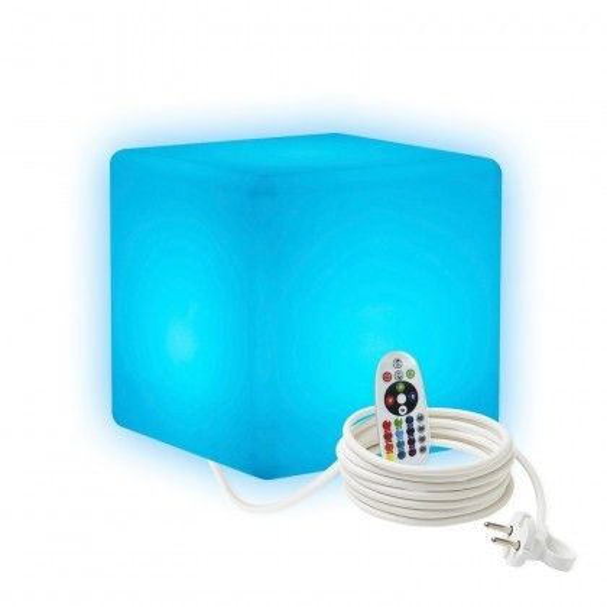 Cветильник LED Куб 20 см., светодиодный, разноцветный RGB, IP65, 220V