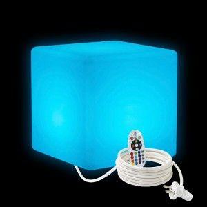 Cветильник LED Куб 30 см., светодиодный, разноцветный RGB, IP65, 220V