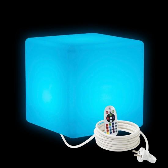 Cветильник куб LED CUBE 30 см. разноцветный RGB с пультом ДУ IP65 220V — Купить в интернет-магазине LED Forms
