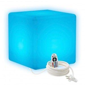 Cветильник куб LED CUBE 40 см. разноцветный RGB с пультом ДУ IP65 220V