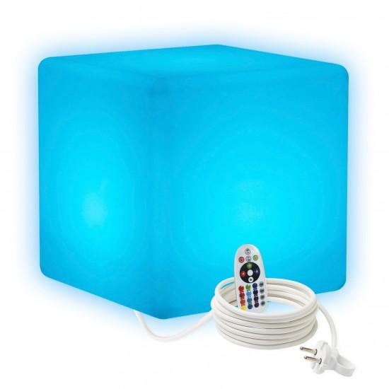 Светильник куб LED CUBE 40 см. разноцветный RGB с пультом ДУ IP65 220V — Купить в интернет-магазине LED Forms