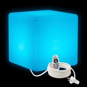 Cветильник LED Куб 40 см., светодиодный, разноцветный RGB, IP65, 220V