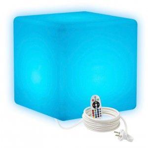 Cветильник LED Куб 50 см., светодиодный, разноцветный RGB, IP65, 220V