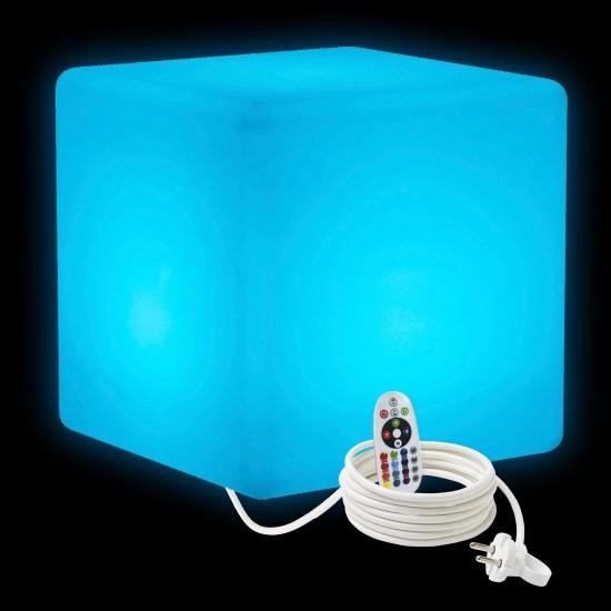 Cветильник куб LED CUBE 50 см. разноцветный RGB с пультом ДУ IP65 220V — Купить в интернет-магазине LED Forms