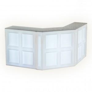 Барная стойка LED Quadro, угловая секция, 137*45*110 см., цвет белый, 220V