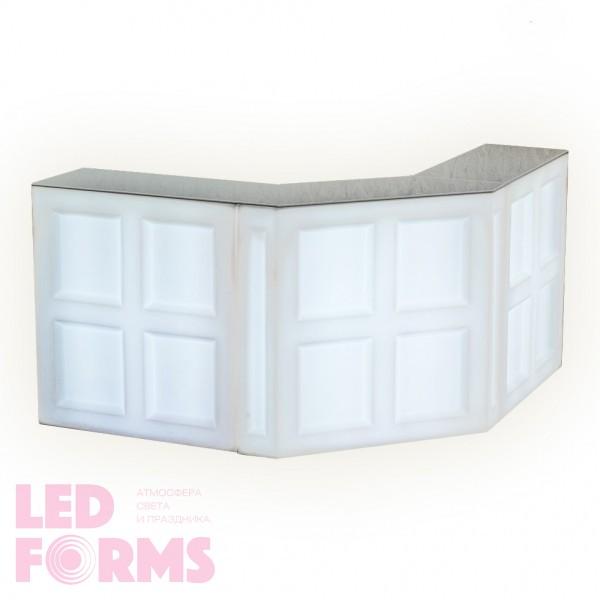 Светящаяся барная стойка LED BAR (прямая) с белой светодиодной подсветкой IP65 220V — Купить в интернет-магазине LED Forms