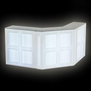 Барная стойка LED Quadro, фронтальная секция, 100*45*110 см., цвет белый, 220V