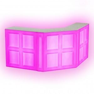 Барная стойка LED Quadro, фронтальная секция, 100*45*110 см., разноцветная (RGB), с аккумулятором