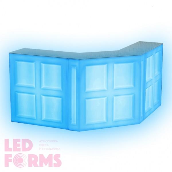 Барная стойка LED Quadro, фронтальная секция, 100*45*110 см., разноцветная (RGB), 220V